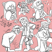 Timestuck AU doodles by SystemEmotions