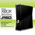 Xbox 360_250GB .PSD by zandog