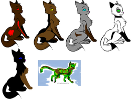 Adoptable cats by QuestionTheDragon