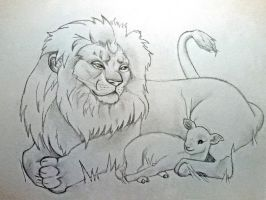 The Lion and the Lamb by JesusSavedMe777
