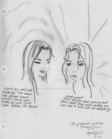 Telepath and her Precog Twin by racheltorres921
