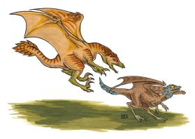 Pern: Slasher Wherry and Prey by Eregyrn