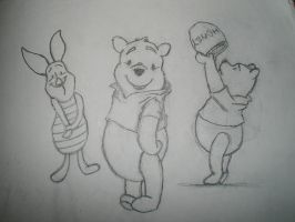 Pooh and Piglette by boredbabe90