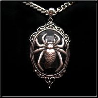 new spider pendant necklace bl by Horribell-Originals