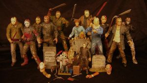 Friday the 13th Figures by Police-Box-Traveler