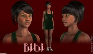 Freebie: Bibi  (Genesis2Female shape) by Edheldil14
