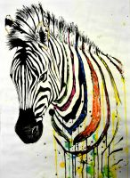 Zebra painting by lushinnickii