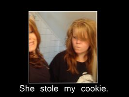 SHE STOLE MY COOKIE!! :( by Nellass