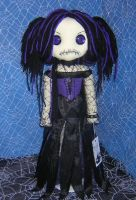 Gothy Girl in Purple by Zosomoto