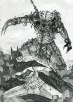 Batman v Predator by SnailShoes