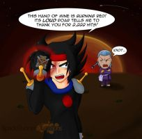 Erupting Thank You Finger by Cinos-Hedgean