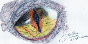 Smaug's Eye-The Hobbit by CristianGarro