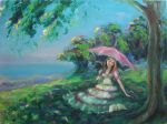Impressions- Pink Parasol by veridian-two