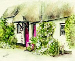 Country Cottage England by morgansartworld