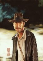 Indiana Jones, Harrison Ford by Parpa