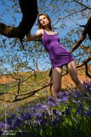 purple dress and bluebells by Arielle-Fox