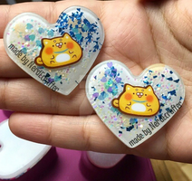 Cute chubby cats resin pieces by NerdEcrafter