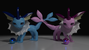 Vaporeons by alewism