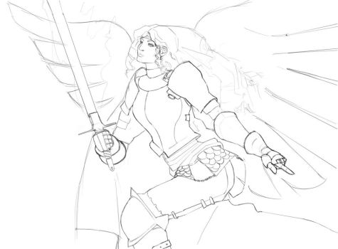 Angel warrior WIP by ITAGalf