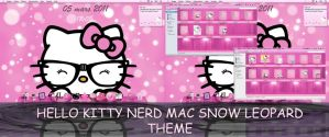My Hello Kitty Nerd Theme for Mac Snow Leopard by LadyPinkilicious