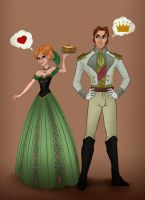Frozen Anna and Hans Love Is an Open Door by violetatranceart