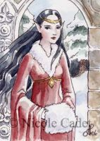 Winter Elf ACEO by NicoleCadet