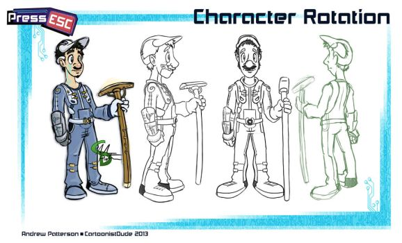 Press Esc: Character Rotation by AndrewArtist