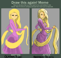 Draw it Again! Rapunzel by twitchglitch