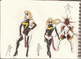 Ms. marvel Sketches_Jan2012_01 by AlexBaxtheDarkSide
