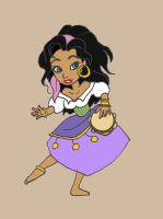 Chibi Esmeralda by ThEsIlKe