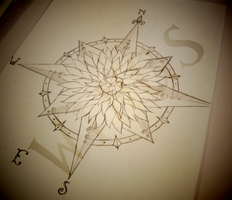 Dahlia Compass Sketch by WingsDurus