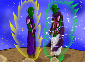 Nameless Namekian U3 VS Gast Carcolh U7 by kibasennin