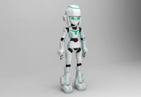 Android Girl 3D Model by Continum