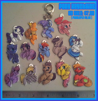Pony keychains ( series 1 and 2 ) by Busoni