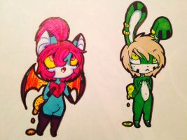 Chibi painter tails adopts: 19# and 20# ( closed ) by evil-vivianne