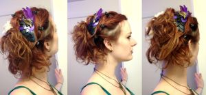 Dragon  Scale hair clip in action! by LadyBloodFlower