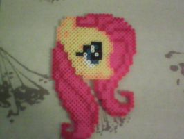 Fluttershy in Perler Beads by CaptainStonebelly
