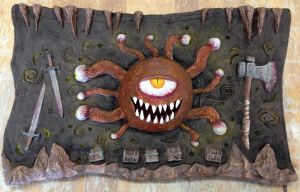 Beholder Relief Sculpture by TheLittlestGiant
