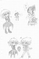 Chibi and Oc Yugioh Gx Sketches by MikaGx