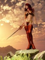 Barbarian Woman Dawn by KayleeMason