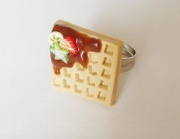 Waffle - adjustable ring by FrozenNote