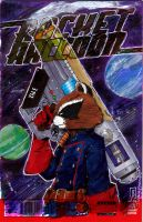 Rocket Raccoon 1 Sketch Cover by giberwitz