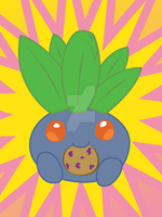 Tumblr Request- Pudgy Oddish by DemonicFruitLoop