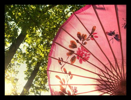 Pink Parasols by JupiterLily