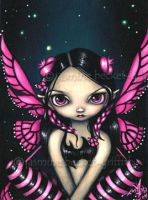 Pink Butterfly Fairy by jasminetoad