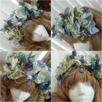 Periwinkle Custom Flower Crown by NoFlutter