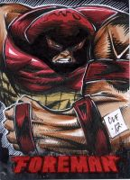 Juggernaut PSC ACEO by Chris Foreman by chris-foreman