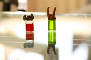 Thor and Loki little Bottles! by ilcielocapovolto