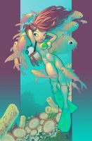 .:Scuba Girl Colored:. by MrEdison
