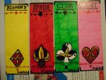 Card Suits Bookmark Set by Timmytushoes